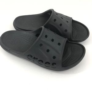 6420aff22 Crocs Men s Slip on Slide Sandals Black Size 12